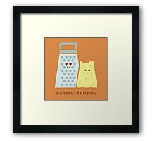 Cheesy Friendship Framed Print