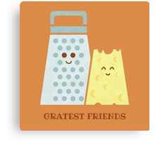 Cheesy Friendship Canvas Print