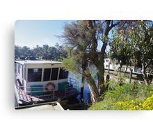 Houseboats on the Pinjarra Murray Canvas Print