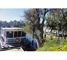 Houseboats on the Pinjarra Murray Photographic Print