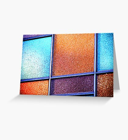 Coloured Glass. Greeting Card