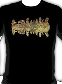Distressed Maps: Lord of the Rings Middle Earth T-Shirt