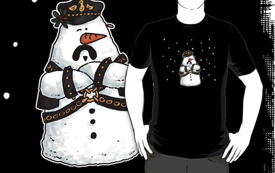 Leather daddy snow man by Corrie Kuipers