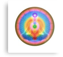 Meditation & the Chakras III Metal Print