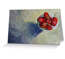 Siete Chillis Greeting Card