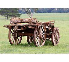 Old Wagon Photographic Print