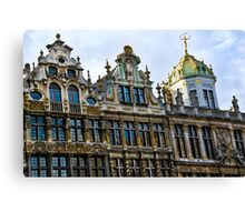 Guild Houses 2 - Grand Place - Brussels, Belgium Canvas Print