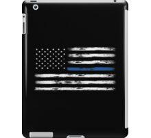 Blue Line (White) iPad Case/Skin