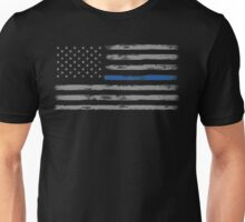 Blue Line (Gray) Unisex T-Shirt