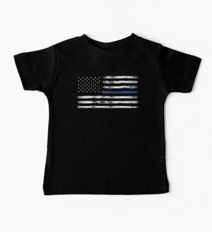 Blue Line (White) Baby Tee