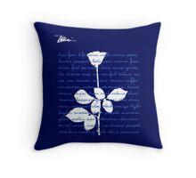 Blue Violator I Throw Pillow