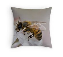 Bee being Busy Throw Pillow