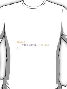 CSS - Rome - Italy T-Shirt