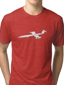 Retro/Vintage Plane Sketch Tri-blend T-Shirt