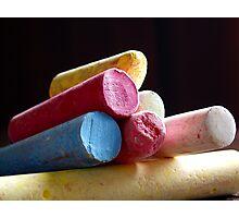 Used Chalk Photographic Print