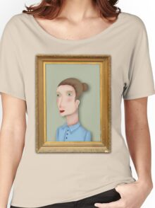 Woman portrait by RADIOBOY Women's Relaxed Fit T-Shirt