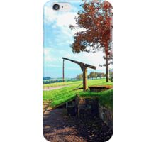 Old fountain under the plum tree | landscape photography iPhone Case/Skin