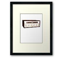Cool, Retro, Vintage Radio/Amplifier Framed Print