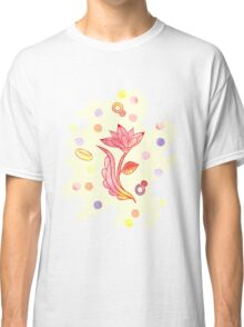 Hand drawn floral ornaments with flowers and rings. Classic T-Shirt