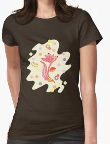 Hand drawn floral ornaments with flowers and rings. Womens Fitted T-Shirt