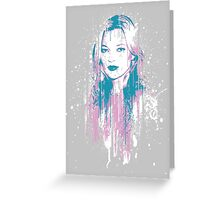 Kate Moss Greeting Card