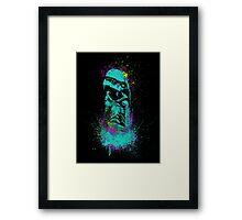 Neon Burster Framed Print