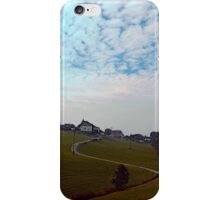 Scenery with clouds, a hill and nothing particular | landscape photography iPhone Case/Skin