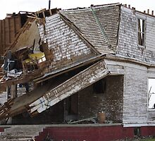 Tornado damaged house by jdeguara