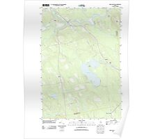 Maine USGS Historical Map Milo South 20110902 TM Poster