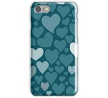 Blue hearts pattern iPhone Case/Skin