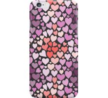 Abstract lilac hearts pattern iPhone Case/Skin