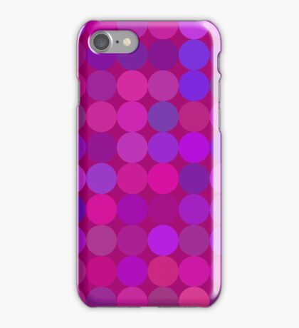 Funny lilac circles iPhone Case/Skin