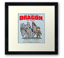 HOW TO TRAIN YOUR DRAGON 8BIT VERSION Framed Print