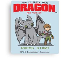 HOW TO TRAIN YOUR DRAGON 8BIT VERSION Canvas Print