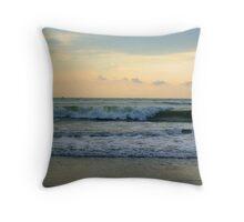 Waves hitting the Seabeach Throw Pillow