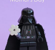 Vader's Flower - Mother's Day Card by AdTheBad