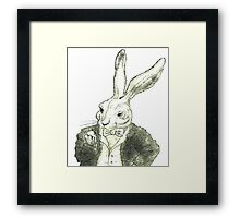 Rabbit and His Golden Watch Framed Print