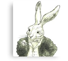 Rabbit and His Golden Watch Canvas Print