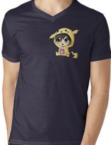 Chibi Pikachu Mens V-Neck T-Shirt