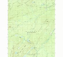 Maine USGS Historical Map Misery Knob 102757 1988 24000 by wetdryvac