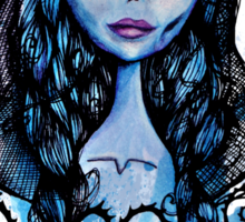 Watercolor Corpse Bride Sticker