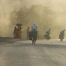 Dusk riding, India by Peter Gostelow