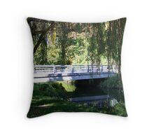 Willow Tree Bridge Throw Pillow