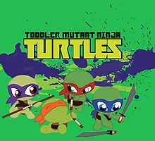 Toddler Mutant Ninja Turtles by reececarlson