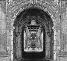 Black And White Church Interior by morningdance