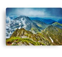 Fagaras mountain range in Romania Canvas Print