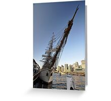 "Tall Ship ""Europa"" & Sydney Skyline, Australia 2013 Greeting Card"