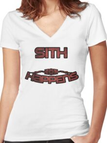 Star Wars Sith Women's Fitted V-Neck T-Shirt