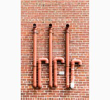 Red Pipes on Red Brick Unisex T-Shirt