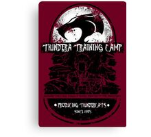 Thundera Training Camp (dark red) Canvas Print